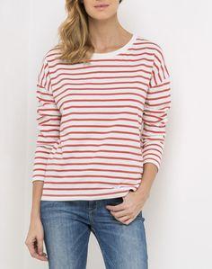 Longsleeve Stripe Tee  | Faded Red