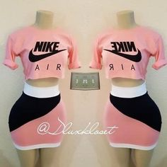 ready to ship in certain sizes Cute Nike Outfits, Cute Lazy Outfits, Baddie Outfits Casual, Swag Outfits For Girls, Sporty Outfits, Teenager Outfits, Dope Outfits, Teen Fashion Outfits, Pretty Outfits