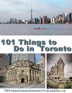101 Things to Do in Toronto. Great list of attractions and activities for kids (and adults)