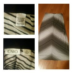 Gorgeous Maxi in Black and white Size medium by Cato. Cute little skirt by Cato. Has some minor pilling. See pics for details Cato Skirts Maxi