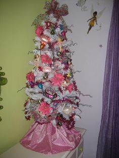 """All things """"girlie"""" pink Christmas tree"""