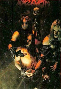Cronos, Mantas and Abbadon promo of Venom, 1982.