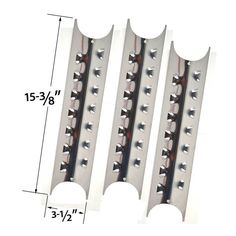 4 PACK Replacement Stainless Steel Heat Plate for select Gas Grill Models by Brinkmann Pro Series Charmglow Kenmore and Master Forge Bbq Grill Parts, Bbq Parts, Stone Bbq, Aussie Bbq, Chef Grill, Grill Master, Master Chef, Cheap Gas, Grilling