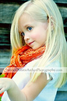 Because Caroline loves a scarf, just like her mommy!
