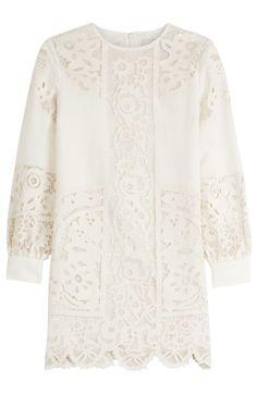 Valentino Linen Mini Dress with Lace Mini Slip Dress, Eyelet Dress, White Mini Dress, Day To Night Dresses, White Linen Dresses, Short Gowns, Valentino Dress, Slim Fit Dresses, Casual Dresses