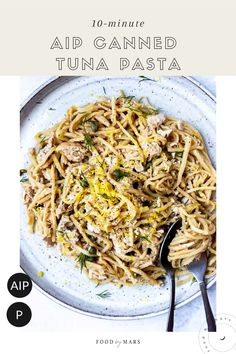 A delicious, quick canned tuna pasta recipe made straight from your pantry that's AIP, Paleo, and Low-carb. Easy Delicious Recipes, Paleo Recipes, New Recipes, Dinner Recipes, Protein Recipes, Paleo Dinner, Delicious Food, Tuna Pasta, Pasta Food