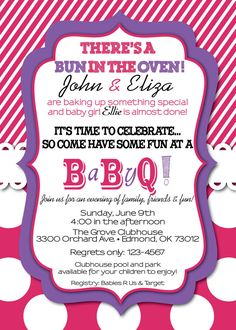 Personalized BBQ Baby Q Shower Invitations | Baby Shower- A lil ...