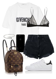 """""""Untitled #415"""" by naomiariel ❤ liked on Polyvore featuring Givenchy, Louis Vuitton, Nobody Denim, Yves Saint Laurent, adidas and Cartier"""