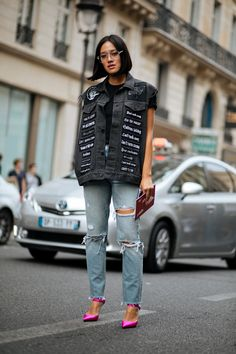 Everyone In Paris Is Wearing A Leather Beret+#refinery29