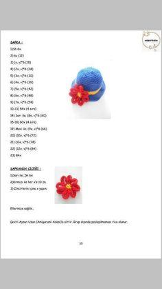 PALYAÇO Crochet Dolls, Knit Crochet, Amigurumi For Beginners, Crochet Disney, Barbie Dress, Amigurumi Doll, Free Pattern, Stud Earrings, Knitting