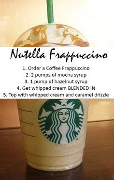 nutella frappuccino secret starbucks