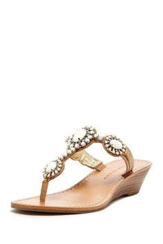 Ivanka Trump Jody Wedge Sandal with beautiful gems, to complete any outfit !