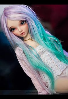 Love the colors in this wig (Fairyland Minifee)  Jess by ***Andreja***, via Flickr