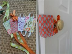 Adorable DIY Door Silencers-- perfect so those little fingers don't get smushed! Informations About Adorable DIY Door Silencers-- perfect so those little fingers don't get smushed! Pin You can easily Baby Sewing Projects, Sewing For Kids, Sewing Hacks, Sewing Crafts, Diy Projects, Diy Baby Gifts, Baby Crafts, Diy And Crafts, Diy Door Knobs