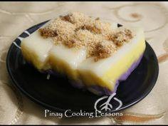 """Filipino favorite desert: """"Sapin-sapin"""" (rice cake) made from glutinous rice."""