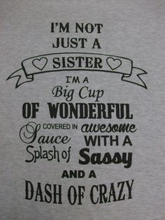 Its our Krazy Sister design...only in a crew neck sweatshirt for those chilly days and nights... - 8-ounce, 50/50 cotton/poly pill-resistant air jet yarn - Double-needle stitching - 1x1 rib knit colla