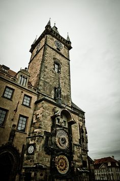 Czech Republic, Prague, Old City Clock by Farr0kh, via Flickr Old City, Czech Republic, Prague, Big Ben, Clocks, The Outsiders, Around The Worlds, Building, Travel