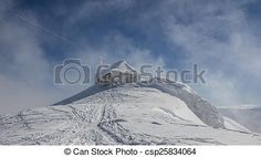 #German #Church In #Winter #Dobratsch @canstockphoto #canstockphoto #landscape #nature #season #outdoor #bluesky #snow #mountains #Austria #Carinthia #view #stock #photo #portfolio #download #hires #royaltyfree