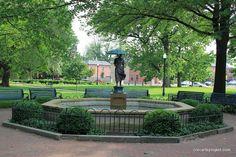 Fountain in Schiller Park, German Village - Columbus, Ohio