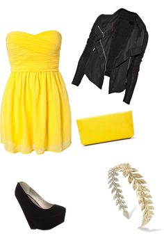 """""""Just for the yellow of it"""" by abri7929 on Polyvore"""