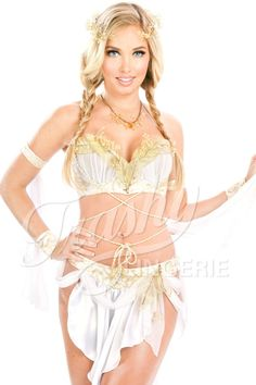 1e1b9475d70d6 Grecian Goddess Bra Gold lace Grecian Goddess Bra with sheer ruched cups  over gold satin.
