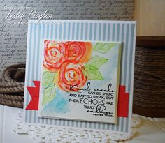 Handmade card by Lesley Crogahn using a sentiment from the Kind Words set from Verve.  #vervestamps