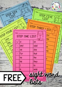 Awesome teaching hack! Sight Word lists! This ultimate list has both Dolch and Fry! A must have resource for teachers in kindergarten and first grade! A great way to track your students progress and to ensure your sight word games are on point! #freesightword #litreracycenters #teachermusthaves