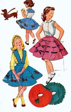 Vintage 50s McCalls 1901 Girls Cutest TWIRLY Full by sandritocat, $14.00