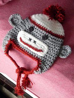 Sock Monkey hat by BabyBeansCrafts on Etsy, $14.00