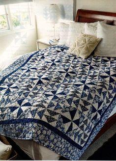 Mom Loved Blue Quilt Pattern Pieced TJ