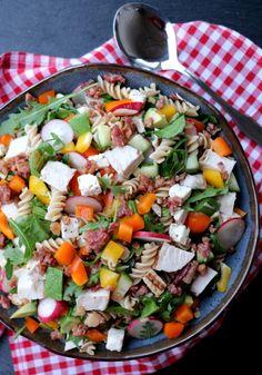 Cobb Salad, Quinoa, Bacon, Salads, Recipes, Food, Spinach, Summer, Essen