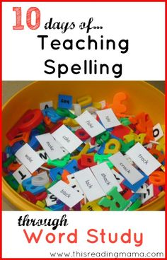 10 Days of Teaching Spelling Through Word Study ~ a developmental and hands-on approach to teaching phonics, sight words, and vocabulary! Word Patterns, Spelling Patterns, Reading Tutoring, Teaching Reading, Teaching Phonics, Guided Reading, Jolly Phonics, Reading Intervention, Reading Time