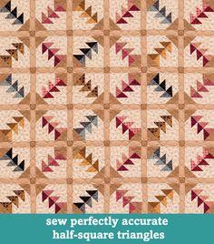 Sew perfectly accurate half-square triangles