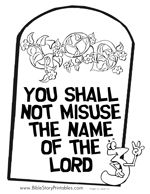 Commandment Page Ten Coloring Sheets | irst Commandment ...