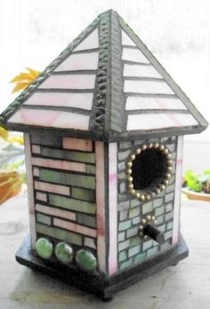 Items similar to Mosaic birdhouse on Etsy Mosaic Birdbath, Mosaic Pots, Mosaic Birds, Mosaic Garden, Mosaic Glass, Garden Art, Garden Ideas, Mosaic Crafts, Mosaic Projects