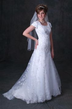 "Check out this new Modest Bridal Gown. The ""HASANA"". Call for availability."