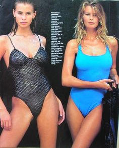 Nikki Taylor and Claudia Schiffer back when supermodels we really supermodels