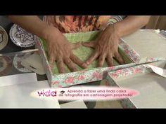 Aprenda a fazer uma linda caixa de fotografia cartonagem projetada! - YouTube