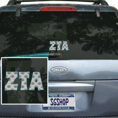 Zeta Tau Alpha Sorority Mascot Car Sticker $6.95