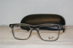 Ray Ban Eyeglasses Case Clear Gray Frame 5248 2102 Demo Lenses MSRP $229