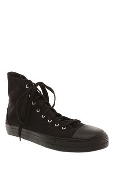 Demonia By Pleaser Deviant Lace-Up Black Canvas High-Top Sneakers | Hot Topic