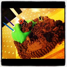 Digger Madness 2nd Birthday cake for little boys party tomorrow!