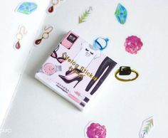 Lovely PVC Label Sticker Set - Girl Jewery