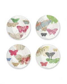 Yours Truly Butterfly  Dessert Plate Set by Fringe Studio at Last Call by Neiman Marcus.