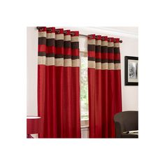 Buy Eddy Red Lined Eyelet Curtains | Curtains | The Range