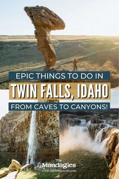 Looking for incredible things to do in Twin Falls, Idaho? We're sharing all the best places to visit in South Idaho, including Idaho hot springs, canyon hikes, paddleboarding, cave exploring, and so much more! Click here to get your downloadable Idaho weekend itinerary here! #idaho #twinfalls #outdoors Snake River Canyon, Idaho Hot Springs, Adventurous Things To Do, Twin Falls, Autumn Park, Paddleboarding, Pacific Northwest, Cool Places To Visit, State Parks