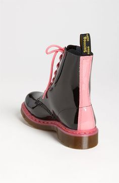 $120 Dr. Martens Pascal Boot in Black/Acid Pink. UKsize 3 or 4. Both Nordstrom DocMarten website showing sold out. Meh. =( Doctor Martens, Doc Martins, Cute Shoes, Pretty Shoes, Sock Shoes, Me Too Shoes, Doc Martens Women, Pink Doc Martens, Crazy Shoes