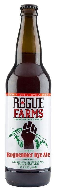 Cerveja Rogue Farms Roguenbier Rye, estilo Specialty Beer, produzida por Rogue Ales Brewery, Estados Unidos. 6.6% ABV de álcool.