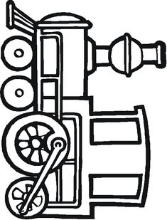 simple coloring pages for children | Do you enjoy train coloring ?