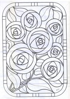 Glass Painting Designs, Stained Glass Designs, Stained Glass Patterns, Dot Painting, Painting Patterns, Fabric Painting, Stained Glass Quilt, Stained Glass Flowers, Rug Hooking Patterns
